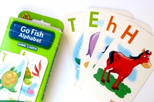 Alphabet writing reading counting patterns j for for Play go fish